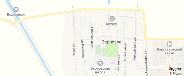 Спортивная улица на карте Зернового села Крыма с номерами домов