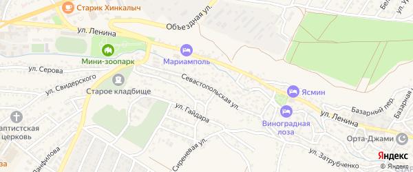 Севастопольская улица на карте Бахчисарая с номерами домов