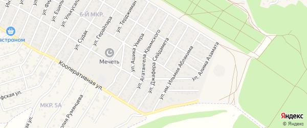 Улица имени Джафера Сейдамета на карте Бахчисарая с номерами домов