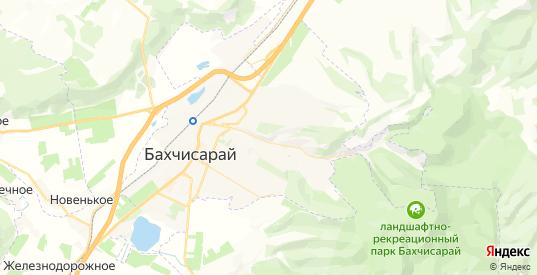 Карта Бахчисарая с улицами и домами подробная. Показать со спутника номера домов онлайн