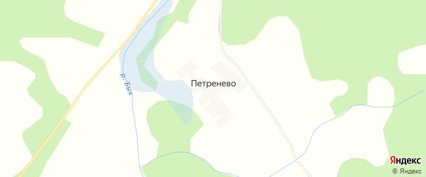 Карта деревни Петренево в Тверской области с улицами и номерами домов