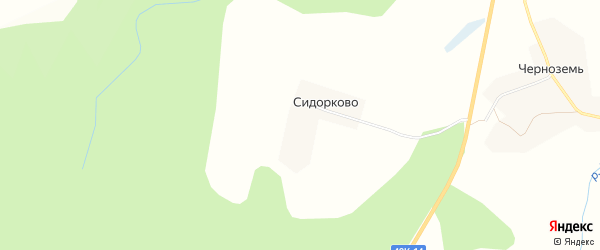 Карта деревни Сидорково в Новгородской области с улицами и номерами домов