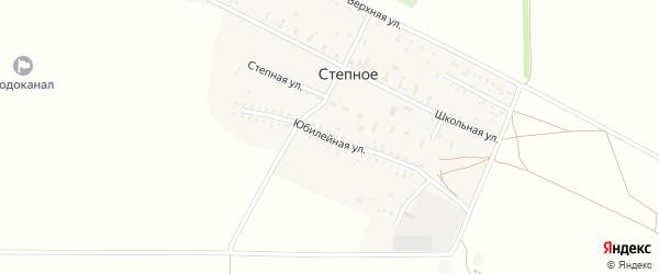 Юбилейная улица на карте Степного села Крыма с номерами домов