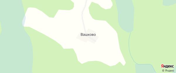 Карта деревни Вашково в Новгородской области с улицами и номерами домов