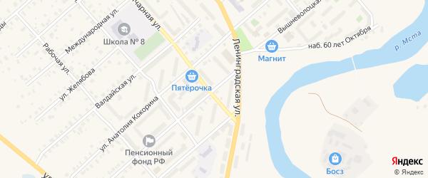 Вышневолоцкая улица на карте Боровичей с номерами домов