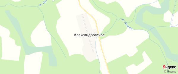 Карта деревни Александровского в Смоленской области с улицами и номерами домов