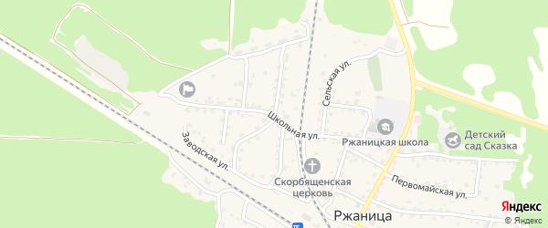 Улица Гагарина на карте села Ржаницы с номерами домов