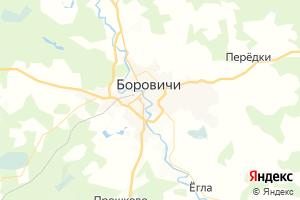 Карта г. Боровичи Новгородская область