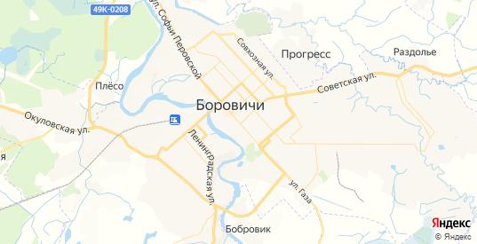Карта Боровичей с улицами и домами подробная. Показать со спутника номера домов онлайн
