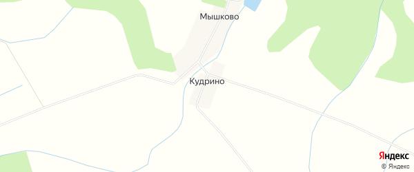 Карта деревни Кудрино в Калужской области с улицами и номерами домов
