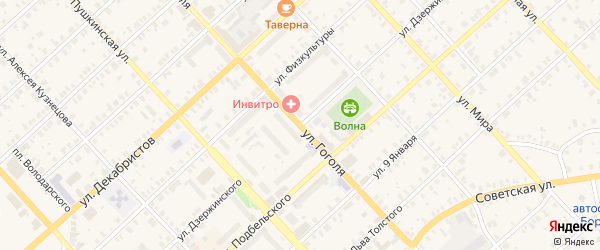 Улица Дзержинского на карте Боровичей с номерами домов