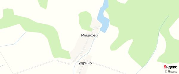 Карта деревни Мышково в Калужской области с улицами и номерами домов
