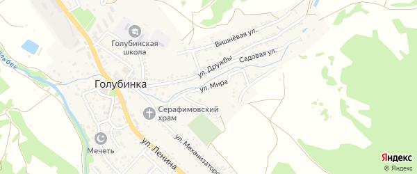 Улица Мира на карте села Голубинки Крыма с номерами домов