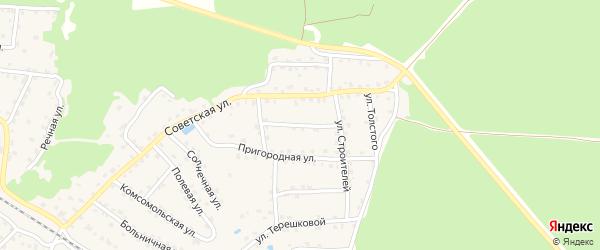 Западная улица на карте села Ржаницы с номерами домов