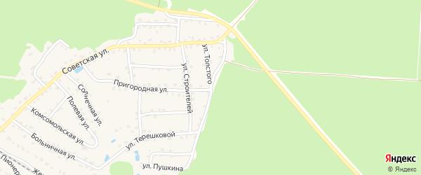 Улица Толстого на карте села Ржаницы с номерами домов