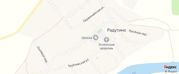 Молодежная улица на карте села Радутино Брянской области с номерами домов