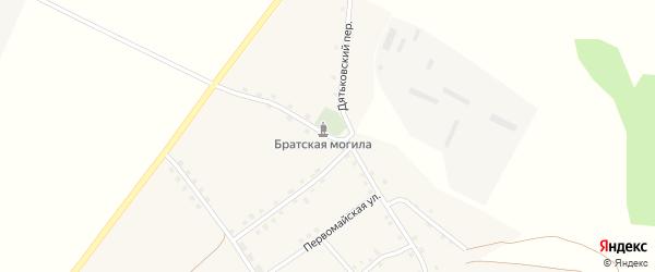 Улица Артема Кривошеева на карте села Радутино Брянской области с номерами домов