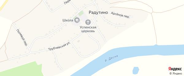 Октябрьский переулок на карте села Радутино с номерами домов