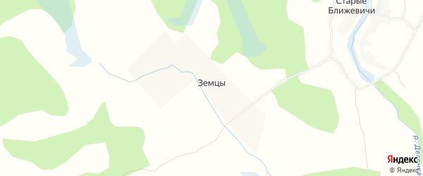 Карта деревни Земцев в Калужской области с улицами и номерами домов