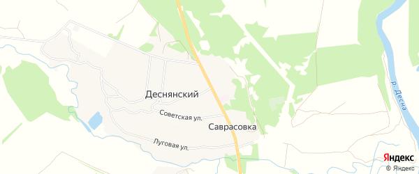 Карта Деснянского поселка в Брянской области с улицами и номерами домов