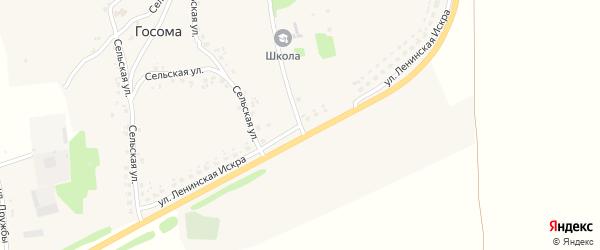 Улица Ленинская Искра на карте села Госомы с номерами домов
