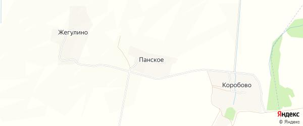 Карта деревни Панского в Смоленской области с улицами и номерами домов