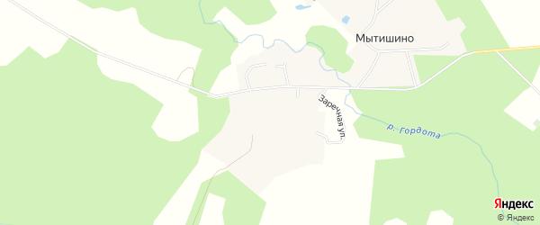 Карта деревни Мытишино в Смоленской области с улицами и номерами домов