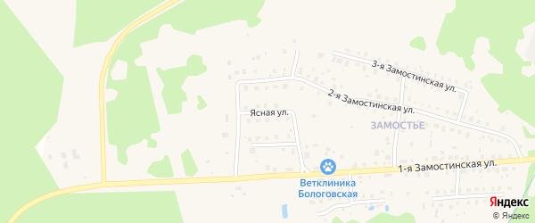 Ясная улица на карте Бологого с номерами домов