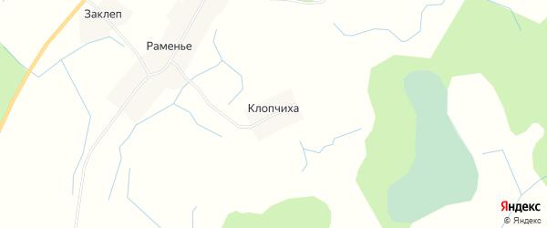 Карта деревни Клопчихи в Новгородской области с улицами и номерами домов