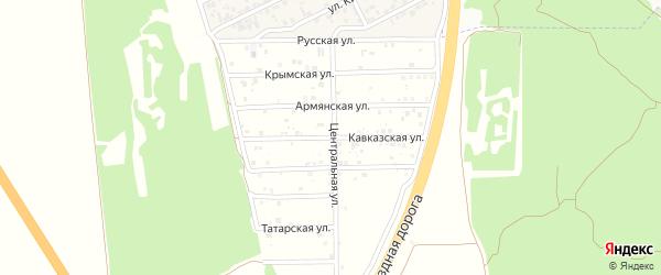 Кавказская улица на карте территории Массива Дубки-2 Крыма с номерами домов