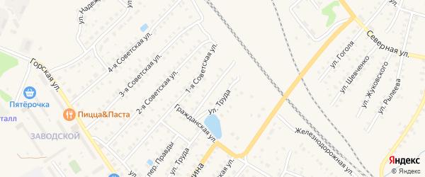 Улица Глинки на карте Бологого с номерами домов