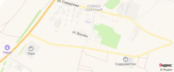 Улица Дружбы на карте поселка Выгоничей с номерами домов