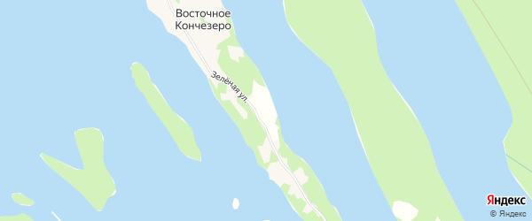 Карта садового некоммерческого товарищества Восточный берег СОТ в Карелии с улицами и номерами домов