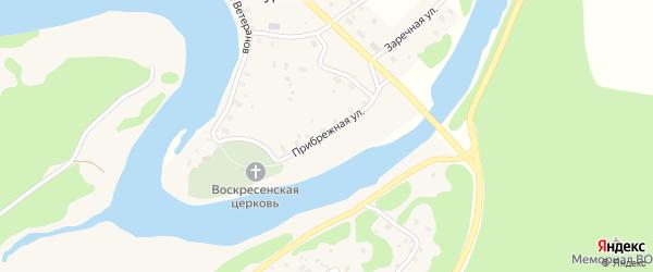 Прибрежная улица на карте Подпорожья с номерами домов