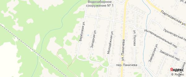 Западная улица на карте поселка Суземки с номерами домов