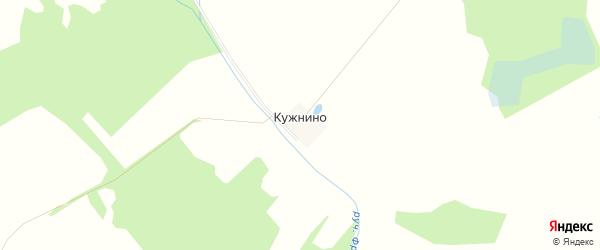Карта деревни Кужнино в Смоленской области с улицами и номерами домов