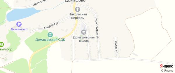 Майская улица на карте села Домашово Брянской области с номерами домов