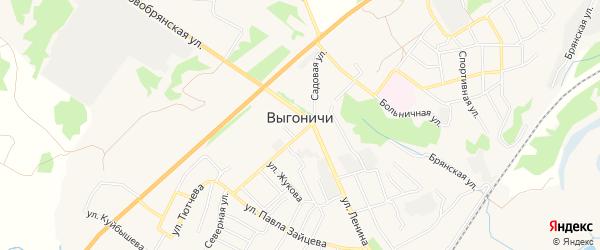 Карта поселка Выгоничей в Брянской области с улицами и номерами домов