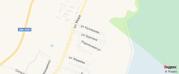 Улица Кратюка на карте Бологого с номерами домов