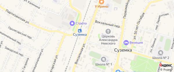 Вокзальная улица на карте поселка Суземки Брянской области с номерами домов