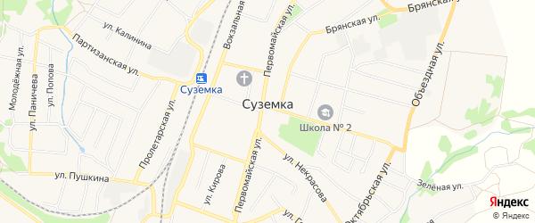 Карта поселка Суземки в Брянской области с улицами и номерами домов