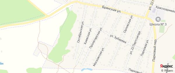 Киевская улица на карте Сельца с номерами домов