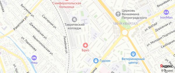 Железнодорожный тупик на карте Симферополя с номерами домов