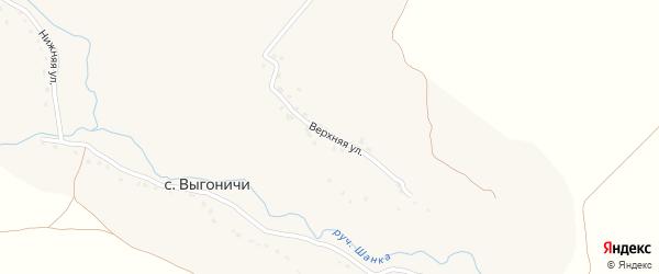 Верхняя улица на карте села Выгоничей с номерами домов