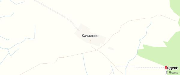 Карта деревни Качалово в Новгородской области с улицами и номерами домов