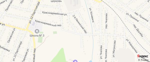 1-й Ленинский переулок на карте Сельца с номерами домов