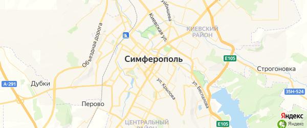 Карта Симферополя с районами, улицами и номерами домов: Симферополь на карте России