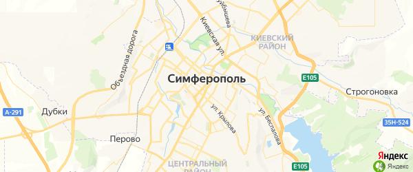 Карта Симферополя с районами, улицами и номерами домов