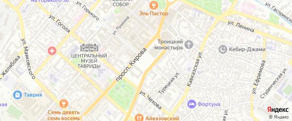 Улица Корбек на карте Симферополя с номерами домов