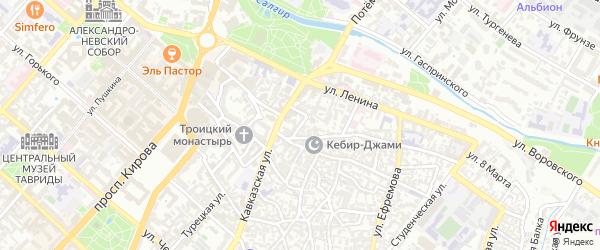 Тихий переулок на карте Симферополя с номерами домов